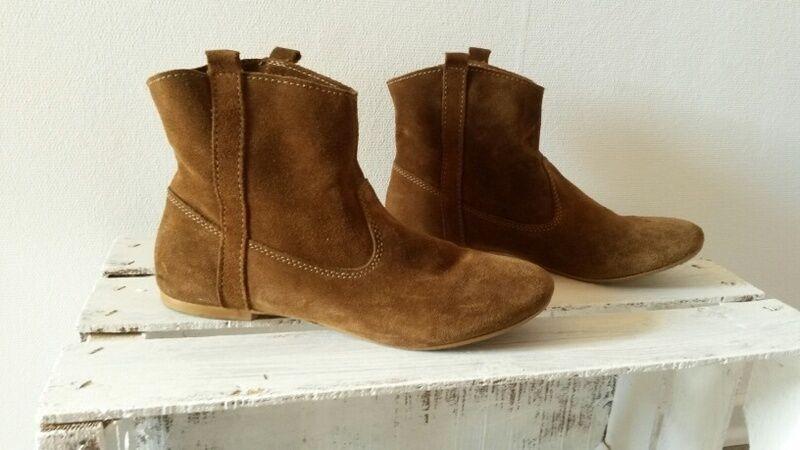 Zara Stiefel Stiefellette 39 39 Stiefellette Leder Boots 6ad64a