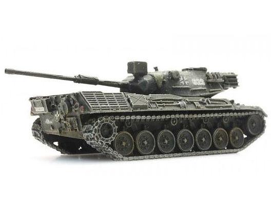 Artitec 6160042-Chars Leopard 1 jauneoliv armée transport ferroviaire-Neuf