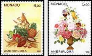 Timbres-Flore-Monaco-1830-1-lot-8110