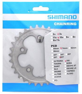 Shimano 105 FC-5703-S Chainring 30T for Triple Crankset Silver 50-39-30T
