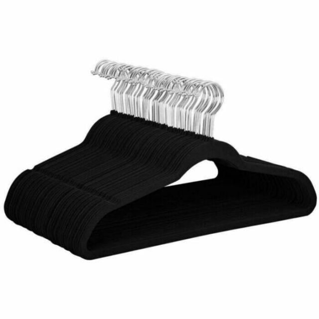 by Joy Mangano 1, Black Joy Mangano Huggable Hanger Set for Suits and Pants 10-Pc.