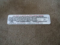 1969 Chevrolet Corvair 140 Cid 155hp Engine Emissions Decal Sticker
