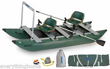 GREEN SEA EAGLE 375 FC PRO ANGLER PKGE FOLDCAT INFLATABLE CATAMARAN FISHING BOAT