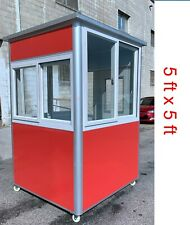 Guard Shacks Check In Security Booths Prefab Portable Office 5x5x75ft Wheels