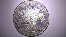 1741 Mexico Silver 8 Reales Genuine Pillar Mexican Coin . Unique. Very Rare