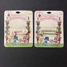 VTG Strawberry Shortcake and Pupcake Bobby Pins Hair Clips NIP New old stock