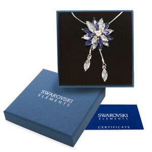 Collana-donna-oro-bianco-Swarovski-Elements-originale-G4L-cristalli-stella-neve