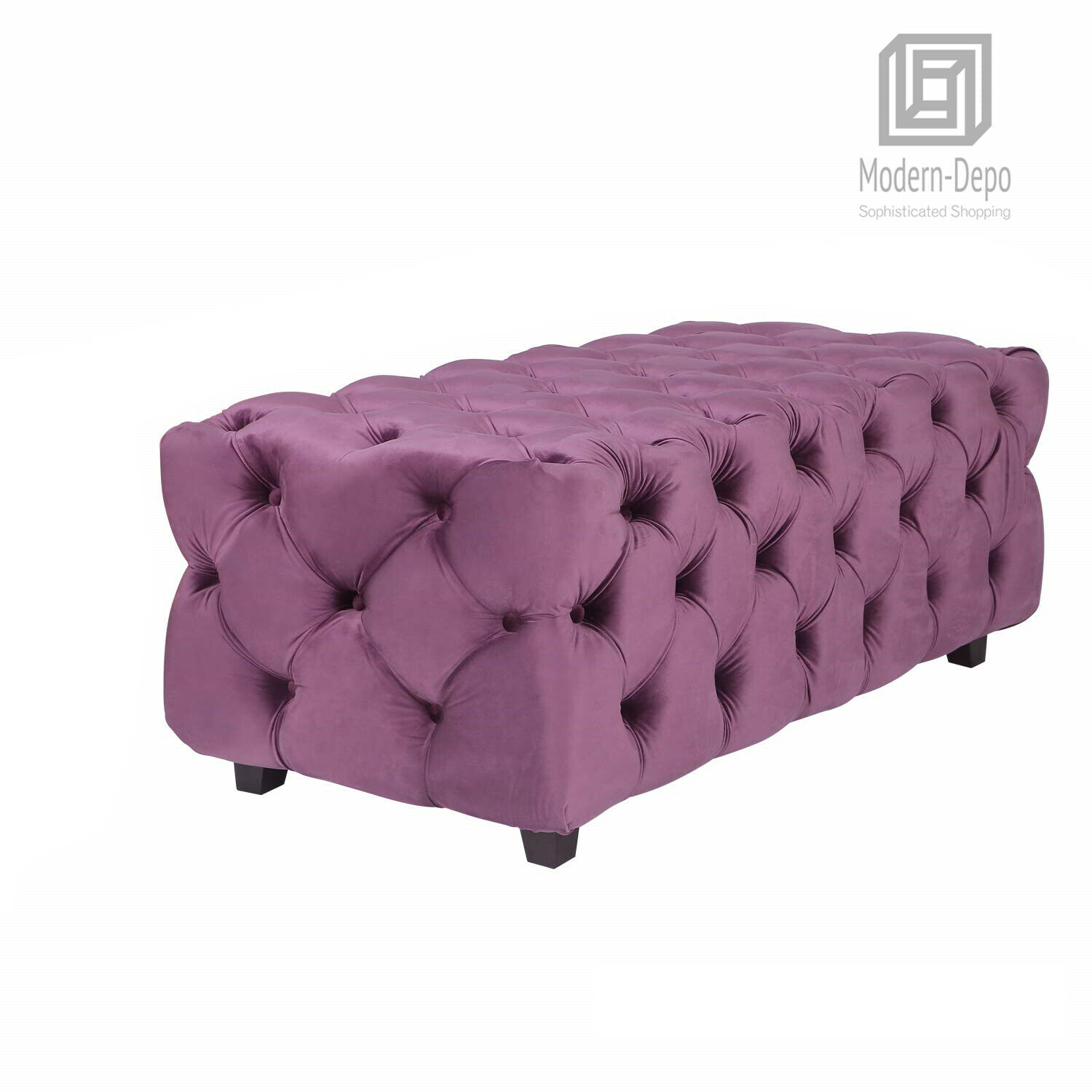 Terrific Tufted Velvet Fabric Rectangle Ottoman Bench Foot Rest Stool For Living Room Gmtry Best Dining Table And Chair Ideas Images Gmtryco