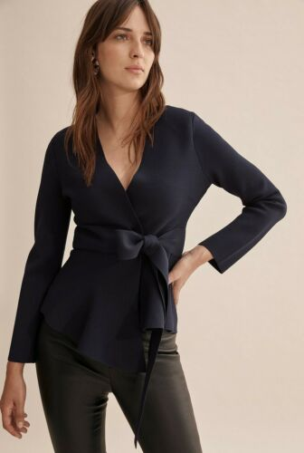 NWT COUNTRY ROAD Compact Knit Wrap JACKET NAVY BLACK  XS S M  L XL