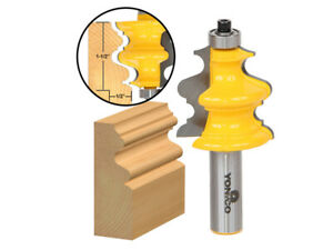 """1-1/2"""" Architectural Molding Router Bit - 1/2"""" Shank - Yonico 16133"""