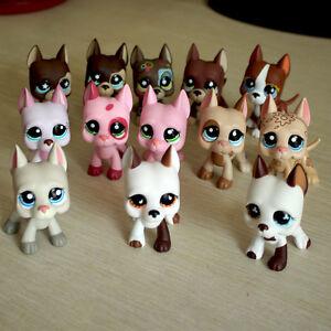 2 Piece Randomly Pet Shop Lps Toys Great Dane Dogs Rare Puppy Girl Gift Ebay
