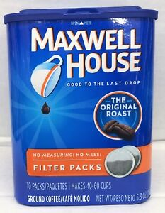 Details About Maxwell House Coffee Original Filter Packs 10 Ct