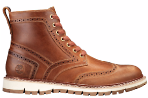 65138ed32f71 Timberland Men s Britton Hill Wingtip Grain Leather Casual Lace Up ...