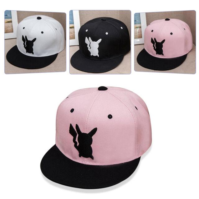 Pokemon Inspired Pokeball Pikachu Men Women Unisex Snapback Baseball Kid Hat Cap