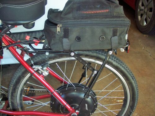 "Atranvelo Rear Luggage Carrier Tour Pro AVS 28/"" Black 1476-7-359 Bike"
