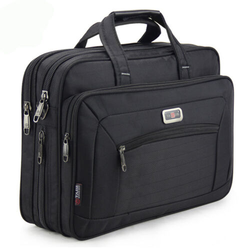 New Large US Mens Oxford Briefcases Bag Laptop Crossbody Briefcase Office Bag