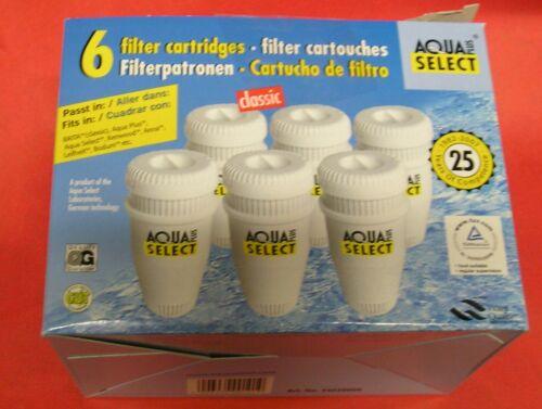 Aqua Select Filtre à Eau Cartouche Cartouche 6 Pièce