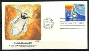 Stati-Uniti-1981-Mi-1485-Primo-Giorno-100-Shuttle-brillamento-off