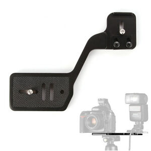 Vertical-Shoot-Camera-w-Flash-Bracket-Dual-1-4-034-Screw-fr-Speedlite-Tripod-Stand