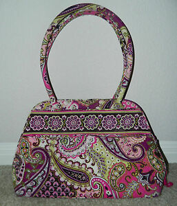 Image Is Loading Vera Bradley Bowler Bag Purse In Very Berry
