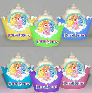 Fantastic Care Bears Birthday Party 15 Wraps Cupcake Cases Cake Wrappers Ebay Funny Birthday Cards Online Alyptdamsfinfo
