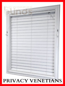 PRIVACY-Shutter-Blind-Venetian-Blinds-63mm-45-x-137-Econo-Wood-PVC-Timber-Look