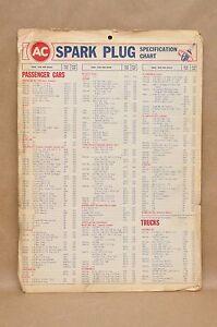 Image Is Loading Vtg 1939 1966 Ac Spark Plug Specification Conversion