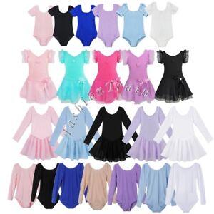 Girl-Kid-Gymnastic-Ballet-Leotard-Skirt-Tutu-Dress-Dance-Outfit-Costume-SZ-2-12Y