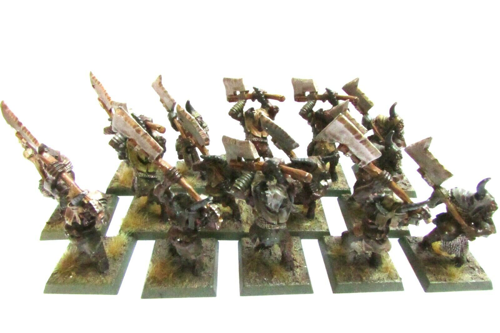 Fuera de imprenta Citadel beastmen Nurgle Pestigor Caos de Warhammer X 15