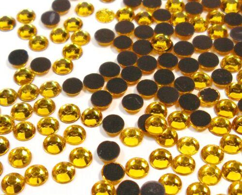 7200 Hotfix Strasssteine 3mm GOLD TOPAS GLAS STRASS Bügelsteine 408