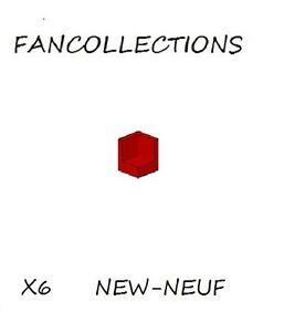 LEGO-x-6-Red-Panel-1x1x1-Corner-6231-NEUF