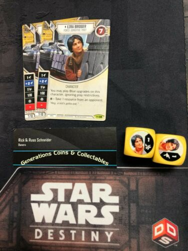 Star Wars Destiny Empire at War  EAW Rare x2 #38 Ezra Bridger