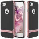 Apple iPhone Slim Shockproof Hybrid Hard Bumper Soft Rubber Case