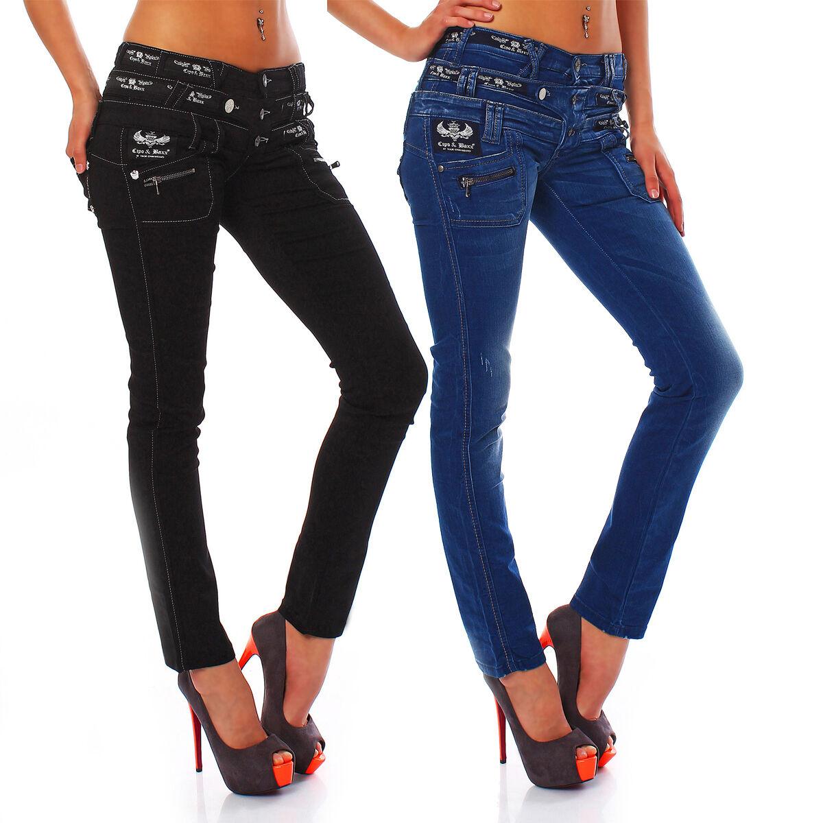 CIPO & BAXX - 2 Modelle - Damen Röhren Jeans Hose