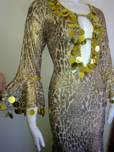 Fallahi Abaya Egyptian Belly Dance Costume Leopard Saidi Dress,Baladi Galabeya