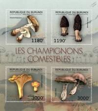 EDIBLE MUSHROOMS & FUNGI Stamp Sheet #1 of 7 (2012 Burundi)