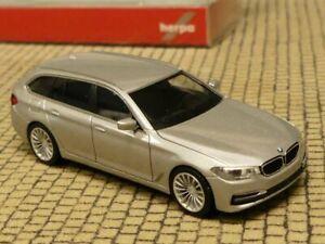 BMW 5er F11 Touring Kombi Silber 2010-2016 H0 1//87 Herpa Modell Auto mit oder oh