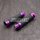 Purple 7/8''Motorcycle Motorbike CNC Handlebar Hand Grips Throttle Twist Tube