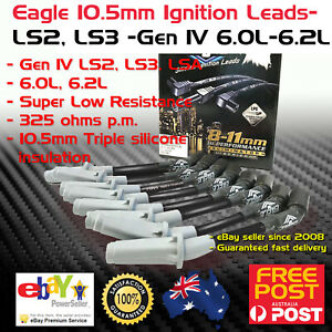EAGLE-10-5mm-Ignition-Spark-Plug-Leads-Holden-6-0-6-2-VE-VF-LS2-LS3-Gen-IV-06-17