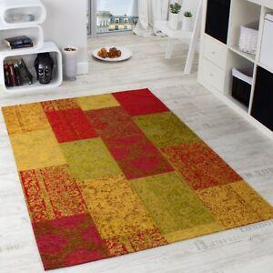 Tapis-Mosaique-Antik-Vintage-Patchwork-Design-Tapis-Multicolore