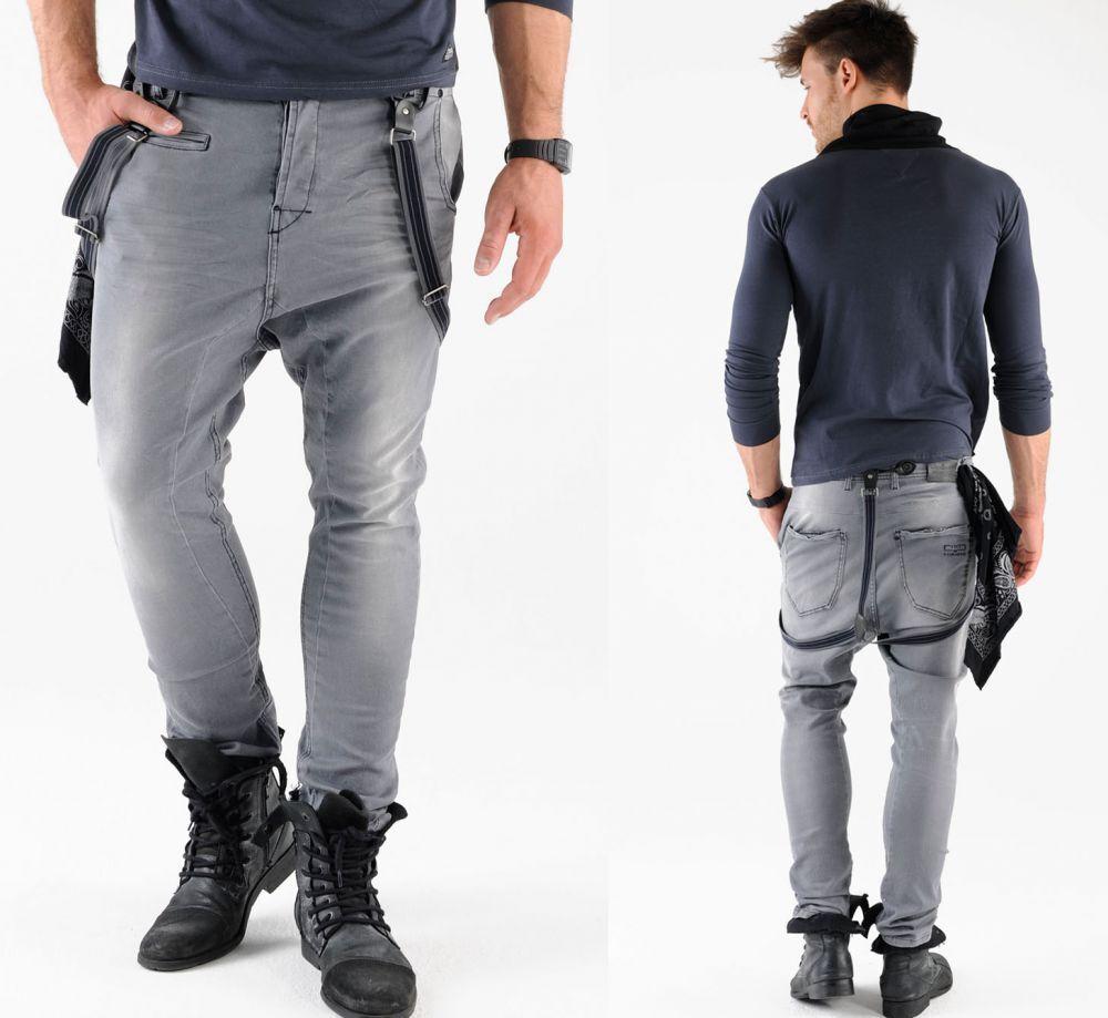 VSCT Brad slim fit jeans con bretelle Pantaloni Nuovo con etichetta
