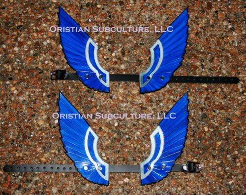 Leather Eagle Winged Anklets Armor SCA LARP Valkyrie Wings Fantasy Mercury