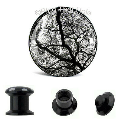 Pair EERIE TREE Plugs EAR GAUGES Tunnels Earrings - You Choose Size