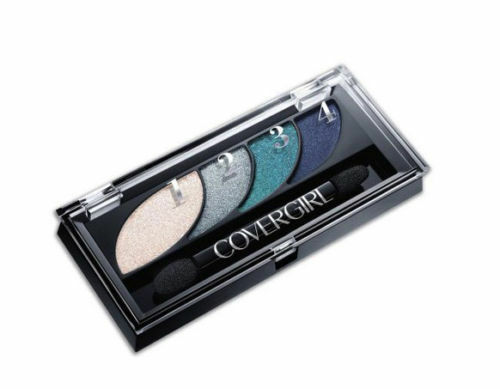 2 x CoverGirl Eyeshadow Quads, Breathtaking Blues 725 100% Brand New