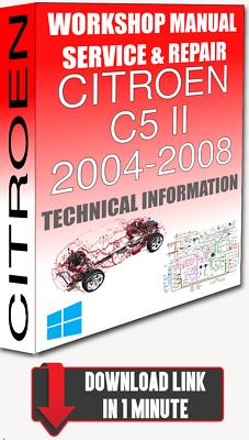 Service Workshop Manual Repair For Citroen C5 Ii 2004 2008 Wiring Download Ebay
