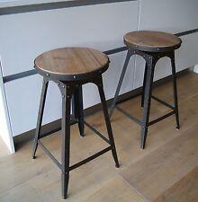 Café style adjustable Tabouret artisan urbain vintage industriel Matures rouillé
