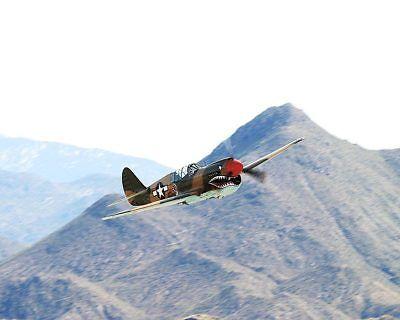 Luftfahrt & Zeppelin Rapture Wwii P-40 Warhawk Flugzeug Banking 11x14 Silber Halogen Fotodruck