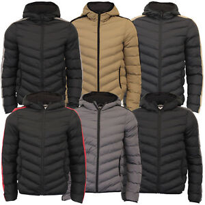 429233898b Details about Mens Bubble Jacket Brave Soul Reflective Coat Hooded Quilted  Padded HARROW New