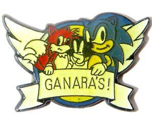 90s Sonic The Hedgehog Tails Ganara S Pin Badge Sega You Win Logo Game Promo Ebay