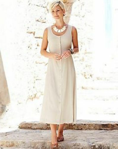 Anthology Stone beige Plain Crinkle Dress plus size 26 new with tags